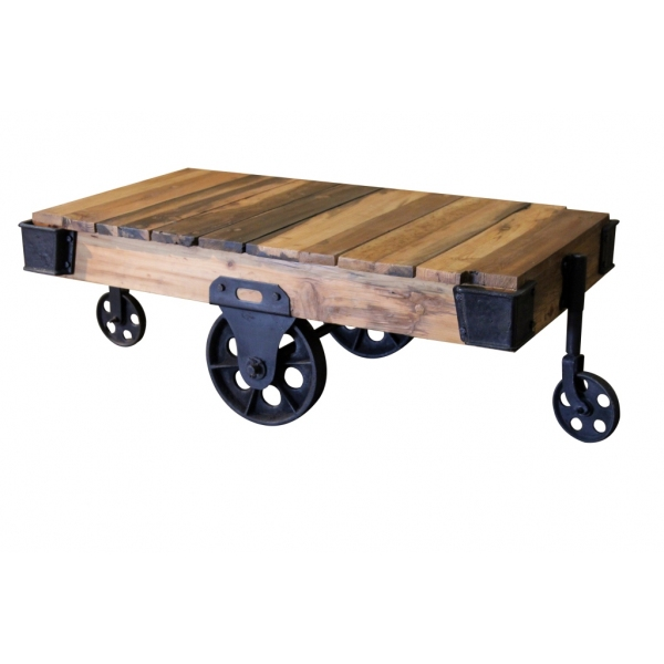 factory cart coffee table – sublime exports