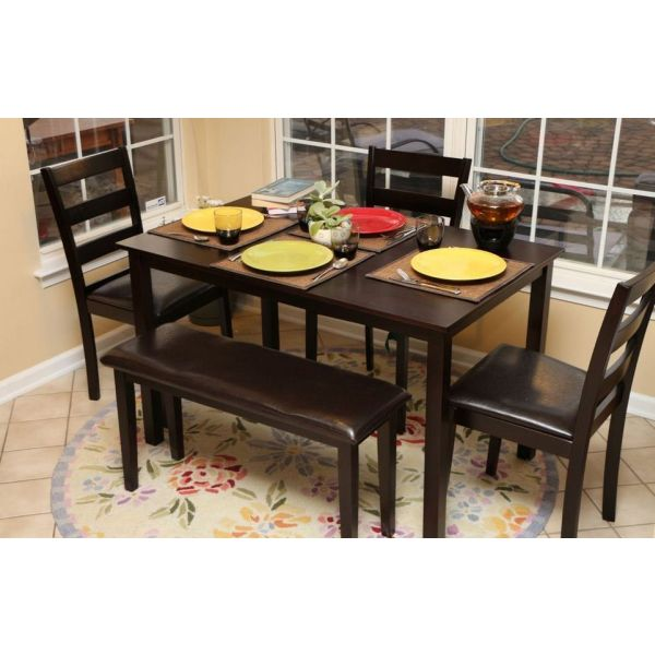 Five Seater Dining Set With Bench Sublime Exports