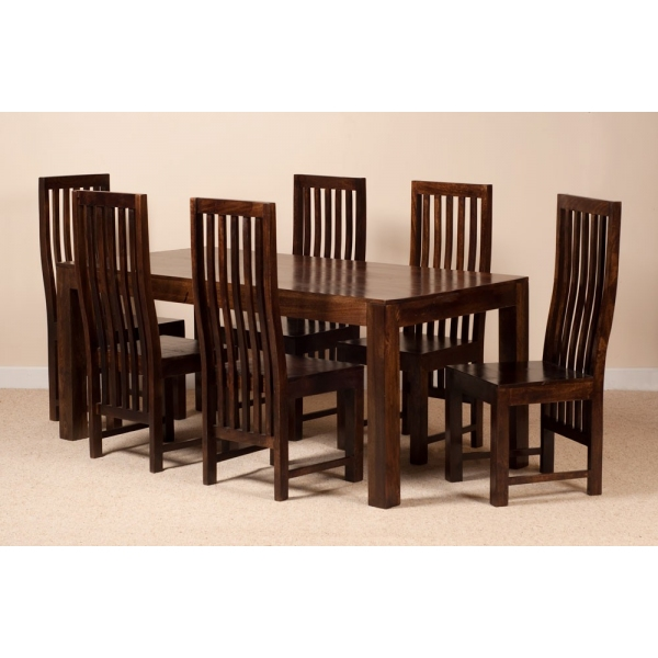 SIX SEATER DINING SET WITH HIGH BACK CHAIRS
