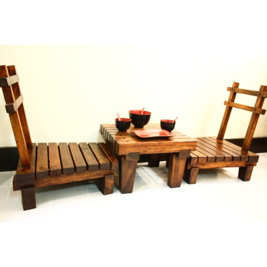 JAPANESE STYLE LOW DINING TABLE SET Sublime Exports : SE DS142 from www.sublimeexports.com size 550 x 550 jpeg 77kB